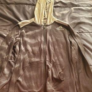 youth med ADIDAS zip up hoodie